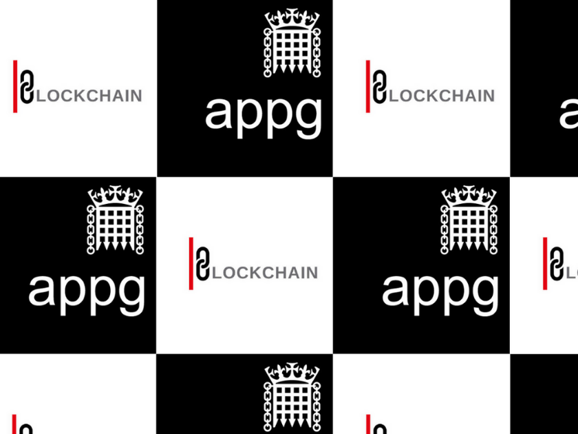 Blockchain and APPG logos